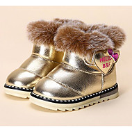 Baby Shoes Leatherette Winter First Walkers Fluff Lining Boots for Casual Gold White Coffee Pink