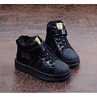 baratos Sapatos de Menino-Para Meninos Sapatos Couro Outono / Inverno Conforto / Forro de fluff Tênis para Preto / Vermelho
