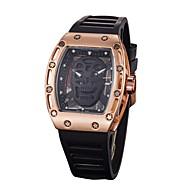 男性用 女性用 軍用腕時計 スケルトン腕時計 リストウォッチ 中国 クォーツ ラバー バンド ブラック