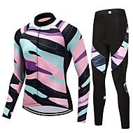 Calça com Camisa para Ciclismo Unisexo Manga Longa Moto Conjuntos de Roupas Secagem Rápida Riscas Clássico Moderno Outono Primavera