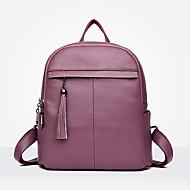 tanie Plecaki-Damskie Torby PU plecak Zamek Black / Czerwony / Purple
