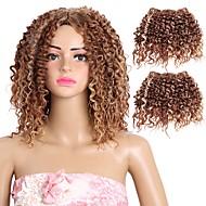 "Krøllede fletninger 1pc / pakke Hårkrøller Krøllet 10"" 100% kanekalon hår Syntetisk Medium Brun/ Jordbær Blond Mellembrun / Medium"