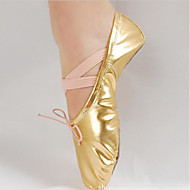 Women's Ballet PU Full Sole Practice Gold Silver