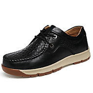 Men's Shoes Nappa Leather Fall Winter Comfort Sneakers Lace-up For Casual Outdoor Brown Black