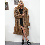 Χαμηλού Κόστους -Γυναικεία Γούνινο παλτό Εξόδου / Δουλειά Βίντατζ / Ενεργό - Μονόχρωμο Ψεύτικη Γούνα