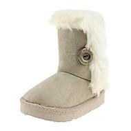 tanie Obuwie dziewczęce-Dla dziewczynek Buty Materiał Zima Jesień Modne obuwie Śniegowce Comfort Buciki Klamra na Casual Na wolnym powietrzu Beige Fuchsia Coffee