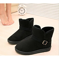 Women's Shoes Fleece Winter Snow Boots Fashion Boots Boots Flat Heel Booties/Ankle Boots For Casual Black Yellow Brown