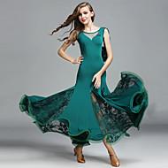 Ballroom Dance Women's Performance Lace Tulle Ice Silk Lace Sleeveless Dress