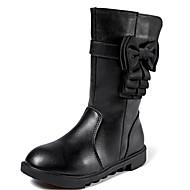 Para Meninas sapatos Couro Ecológico Inverno Botas de Neve Botas Botas Cano Alto Para Casual Preto Rosa claro