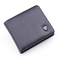Men Bags PU Wallet Tiered for Shopping Casual All Seasons Black Coffee