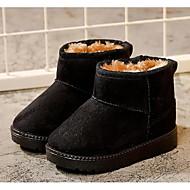 tanie Obuwie dziewczęce-Dla dziewczynek Buty Zamsz Jesień Zima Podszewka Fluff Śniegowce Buciki na Casual Black Fuchsia Coffee Khaki
