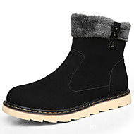 cheap Extended-Size Shoes-Men's Shoes Fur Winter Fall Combat Boots Bootie Snow Boots Boots Booties/Ankle Boots for Casual Outdoor Black Yellow Coffee