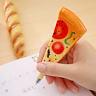 1 PC Simulation Pizza Magetic Black Ink Ballpoint Pen
