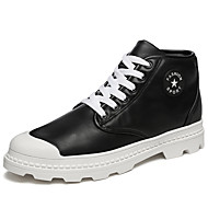 Homens sapatos Courino Primavera Outono Conforto Botas Botas Curtas / Ankle Combinação para Casual Branco Preto Vermelho