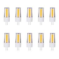 billige Bi-pin lamper med LED-10pcs 3W G4 LED-lamper med G-sokkel 1 leds COB Varm hvit Kjølig hvit 230lm 6500/3500K AC 220-240V