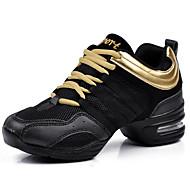 baratos Sapatilhas de Dança-Mulheres Tênis de Dança Malha Respirável Salto Salto Plataforma Sapatos de Dança Preto / Preto / Vermelho / Black / Orange / Ensaio / Prática