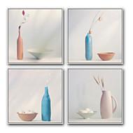 Tegneserie Still Life Innrammet Oljemaleri Veggkunst,Stål Materiale med ramme For Hjem Dekor Rammekunst Stue