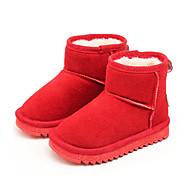 Para Meninas sapatos Pele Real Camurça Outono Inverno Botas de Neve Botas da Moda Curta/Ankle Forro de fluff Botas Botas Curtas / Ankle
