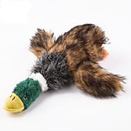 犬用おもちゃ ペット用おもちゃ ぬいぐるみ きしむおもちゃ キーッ あひる ファブリック ペット用