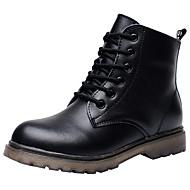 Jongens Schoenen Leer Herfst Winter Comfortabel Modieuze laarzen Legerlaarzen Laarzen Korte laarsjes/Enkellaarsjes Veters Voor Causaal