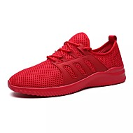 Miehet kengät Syksy Comfort Kävely varten Kausaliteetti Valkoinen Musta Harmaa Punainen