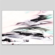 billige Nyheter-Hang malte oljemaleri Håndmalte - Abstrakt Abstrakt Lerret