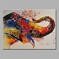 מצויר ביד בעלי חיים אופקי,מודרני 1pc בד ציור שמן צבוע-Hang For קישוט הבית