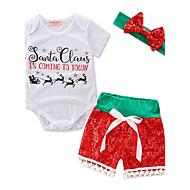 Baby Piger Jul Afslappet/Hverdag Dyre Print Trykt mønster Tøjsæt,Stilfuld Et Stykke Trikoter Basale Klassisk & Tidløs Hovedstykke Smuk