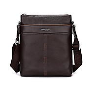 Men Bags Cowhide Briefcase Zipper for Casual Formal Office & Career All Seasons Black Brown