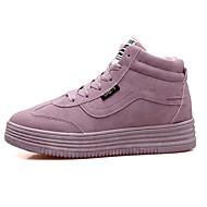 Femme Chaussures Polyuréthane Automne Confort Semelles Légères Basket Pour Décontracté Noir Gris Rose