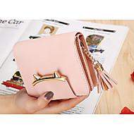 Women Bags PU Wallet Zipper for Event/Party Shopping All Seasons Blue Black Blushing Pink Gray Light Purple