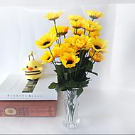 billige Kunstige blomster-3 stk ny stil 7 gren / bukett 7cm blomsterknopper daisy 30cm kunstig blomst