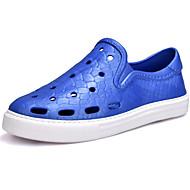 baratos Sapatos Femininos-Mulheres Sapatos Couro Ecológico Primavera / Outono Conforto Tênis Preto / Khaki / Azul Real