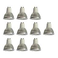 billige Spotlys med LED-10pcs 4W 360 lm GU10 LED-spotpærer 4 leds Høyeffekts-LED Mulighet for demping Hvit 110-120