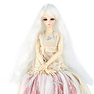 Naisten Synteettiset peruukit Suojuksettomat Pitkä Kinky Curly Valkoinen Doll Wig Rooliasu peruukki