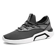 Masculino sapatos Borracha Primavera Outono Conforto Tênis Cadarço Para Preto Cinzento Branco/Preto
