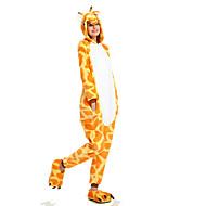 Kigurumi Pijamalar Zürafa yarasa Strenç Dansçı/Tulum Festival / Tatil Hayvan Sleepwear Halloween Turuncu Geometrik Hayvan Desenli Kigurumi