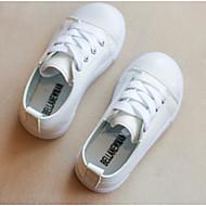 baratos Sapatos de Menino-Para Meninos Sapatos Courino Primavera / Outono Conforto Tênis para Branco / Preto / Vermelho