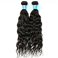 Haare mit intakter Kutikula (Remy Hair) Peruanisches Haar Menschenhaar spinnt Gewellt Haarverlängerungen 2 Schwarz