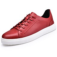 halpa -Miehet kengät Synteettinen mikrokuitu PU Syksy Talvi Comfort Lenkkitossut Solmittavat Käyttötarkoitus Valkoinen Musta Punainen