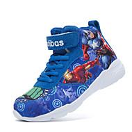 tanie Obuwie chłopięce-Dla chłopców Obuwie Materiał Jesień Wygoda Adidasy Sznurowane / Tasiemka na Szary / Czerwony / Niebieski
