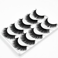 5 睫毛 まつ毛 フルタイプつけまつげ 厚型 ナチュラルロング 手作り 繊維 Black Band