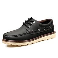 Masculino sapatos Couro Ecológico Outono Botas Cowboy/Country Botas da Moda Oxfords Para Casual Preto Amarelo Marron