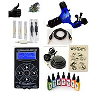 billige Tatoveringssett for nybegynnere-Tattoo Machine Startkit - 1 pcs tattoo maskiner med 7 x 15 ml tatovering blekk, Profesjonell 1 x roterende tatoveringsmaskin til lining