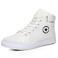 baratos Sapatos Femininos-Mulheres Sapatos Malha Respirável / Tecido / Couro Ecológico Outono / Inverno Conforto Tênis Botas Curtas / Ankle Branco / Preto / Azul