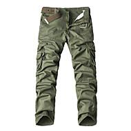 Muškarci Vintage Veći konfekcijski brojevi Cargo hlače Chinos Hlače Jednobojni