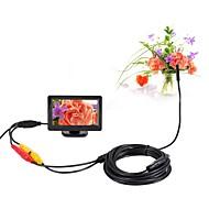 billige Overvåkningskameraer-5,5mm dia av endoskop 5v ntsc inspeksjon borescope kamera 5m nattesyn snake videokamera med 4,3 tommers tft fargeskjerm