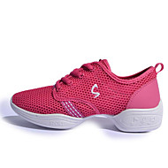 cheap Dance Sneakers-Women's Dance Sneakers Breathable Mesh Heel Practice White Fuchsia Black/Gold