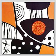 billiga Oljemålningar-Hang målad oljemålning HANDMÅLAD - Abstrakt Abstrakt Parfymerad Realism Duk