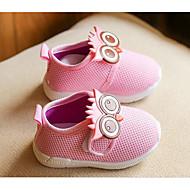 tanie Obuwie dziewczęce-Dla dziewczynek Obuwie Płótno Wiosna / Jesień Comfort Mokasyny i pantofle na Casual Gray / Czerwony / Różowy